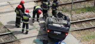 Accidente en las vías del tren