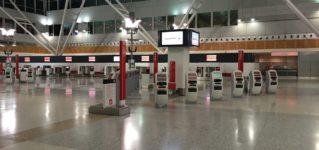 Aeropuerto con poca actividad