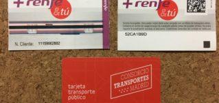マドリードの地下鉄、近郊線の切符はチャージ方式のカード