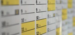 Meses del año y días de la semana