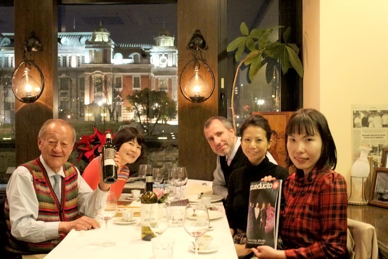 オーデックス・ジャパンのお2人とスペイン料理&ワインディナー