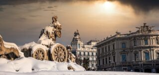 Madrid con nieve