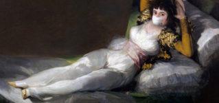 プラド美術館の『着衣のマハ』もマスク姿に?