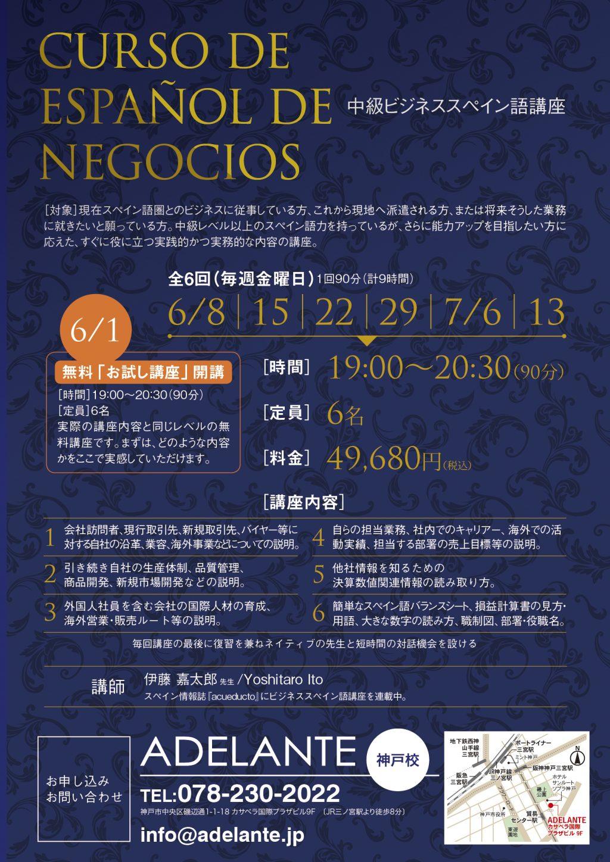 中級ビジネススペイン語講座のお知らせ 大阪 神戸でスペイン語を学ぶ