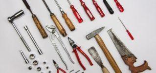 Muchas herramientas en casa