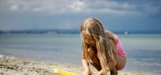 La playa y los niños