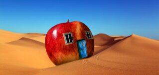 Una manzana en el desierto