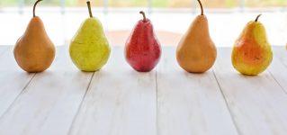 En España las peras tienen diferente forma