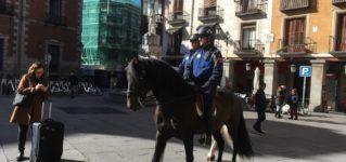マドリードの騎馬パトロール