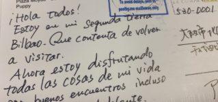 Postal desde Bilbao