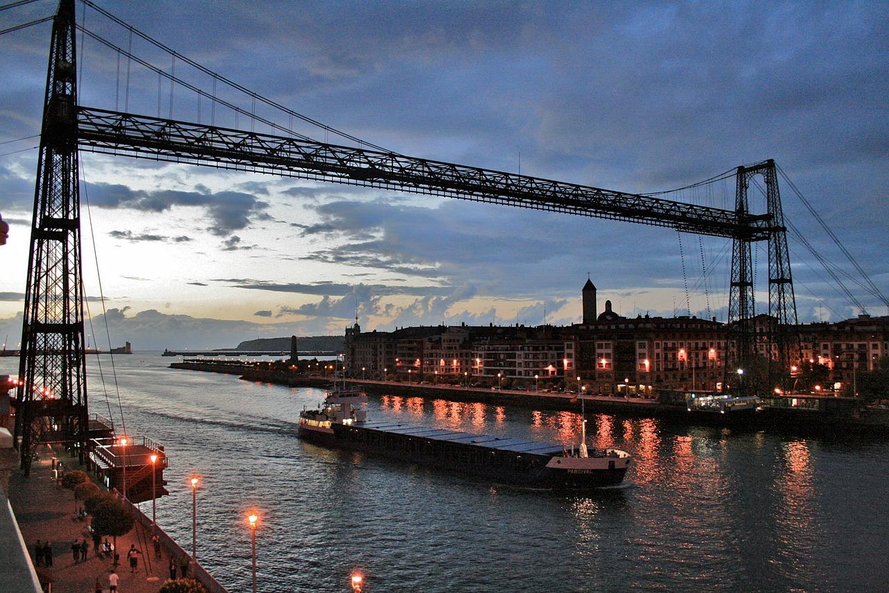 世界最古の運搬橋ビスカヤ橋