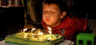 Los cumpleaños con el paso del tiempo