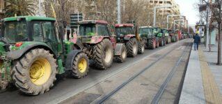 Manifestación con tractores